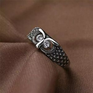 NEW 925 Silver Sapphire Eye Owl Ring :: Unisex